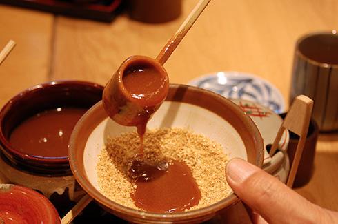 katsukura, sesame tare sauce, washoku, Japanese food, Japanese art, ki-yan's kyoto food & art,