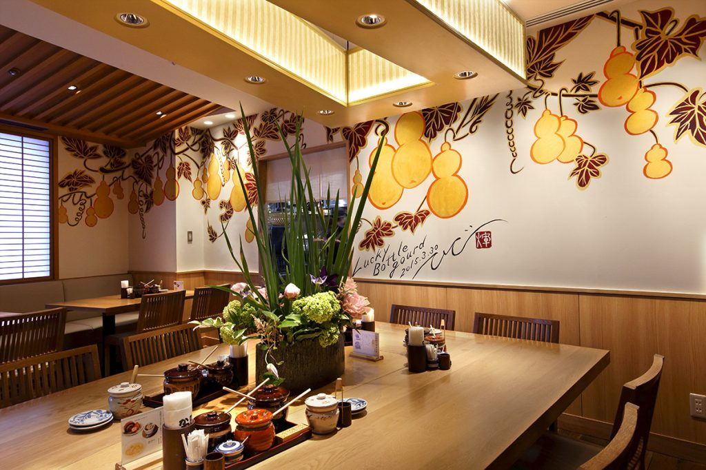 katsukura, washoku, Japanese food, kyoto restaurant, ki-yan's kyoto food & art, tonkatsu, Japanese art, ki-yan's mural