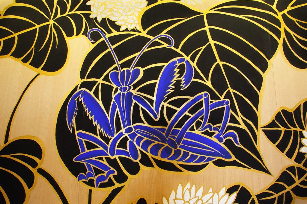 washoku, Japanese food, Gontaro, Kyoto restaurant, Ki-Yan's mural, praying mantis, Ki-Yan's Kyoto food & Art