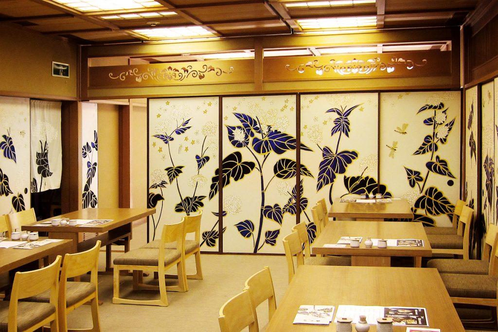 washoku, Japanese food, Gontaro Kyoto main branch, Japanese art, Kyoto mural, Ki-Yan, Ki-Yn's Kyoto Food & Art, soba buckwheat restaurant