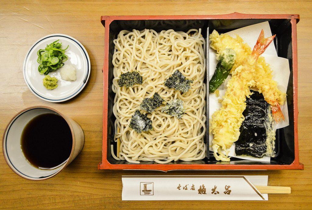 washoku, Japanese food, Kyoto restaurant, Gontaro main branch, tenzaru soba set