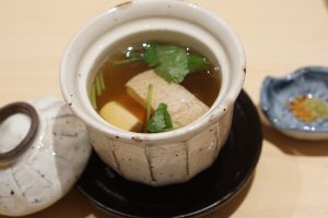 Tuna and toro soup