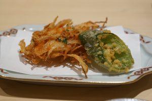 桜えびのかき揚げ tempura