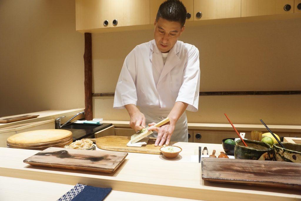 Washoku chef Koji Koike